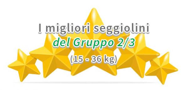 Valutazione dei migliori seggiolini auto del Gruppo 2/3
