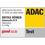 Valutazione ADAC del seggiolino Britax Römer ADVANSAFIX IV R