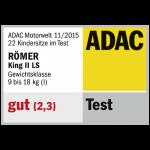 Valutazione del seggiolino Britax Romer King II (ADAC)