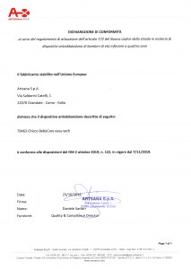 Chicco BebèCare easy-tech: dichiarazione di conformità