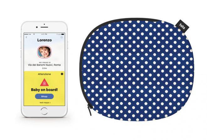 Cuscino Tata collegato allo smartphone