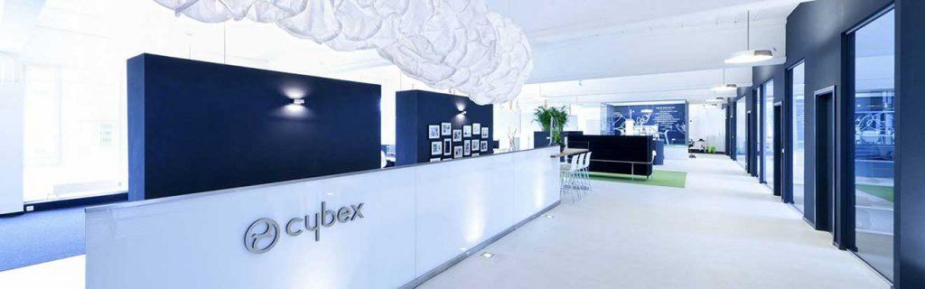 Vista dell'interno dell'azienda Cybex