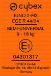 Cybex Juno 2-Fix etichetta omologazione