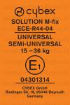 Cybex Solution M-Fix etichetta omologazione gruppo 2/3