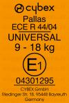 Cybex Pallas etichetta omologazione