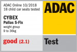 Valutazione ADAC del seggiolino Cybex Pallas S-Fix