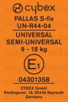 Cybex Pallas S-Fix etichetta omologazione gruppo 1