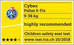 Valutazione TCS del seggiolino Cybex Pallas S-Fix