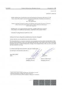 Cybex SensorSafe: dichiarazione di conformità