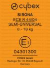 Cybex Sirona etichetta omologazione