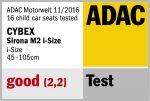 Riconoscimento ADAC per Cybex Sirona M2 i-Size