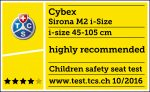 Riconoscimento TCS per Cybex Sirona M2 i-Size
