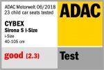 Riconoscimento ADAC per Cybex Sirona S i-Size