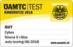 Riconoscimento OAMTC per Cybex Sirona S i-Size