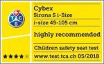 Riconoscimento TCS per Cybex Sirona S i-Size