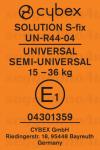 Cybex Solution S Fix etichetta omologazione gruppo 2/3