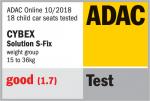 Valutazione ADAC del seggiolino Cybex Solution S-Fix