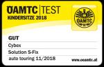 Valutazione ÖAMTC del seggiolino Cybex Solution S-Fix