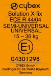 Cybex Solution X2-fix etichetta omologazione