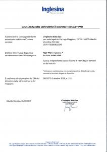 Inglesina Ally Pad: dichiarazione di conformità