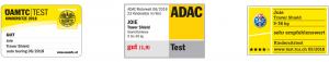 Valutazione di Joie Traver Shield da parte degli enti indipendenti (OAMTC, ADAC, TCS)