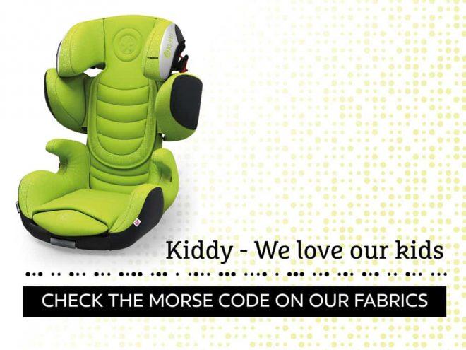 """Messaggio segreto scritto in codice Morse """"Kiddy - We love our kids"""""""