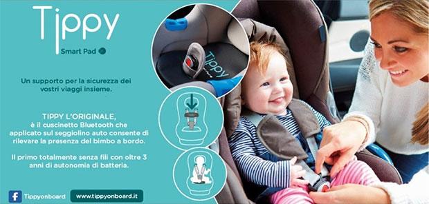 Legge anti abbandono bimbi in auto: il dispositivo Tippy