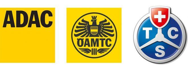 Loghi enti indipendenti ADAC OEAMTC TCS