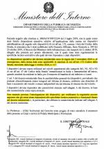 Circolare Ministeriale che conferma entrata in vigore della legga Anti Abbandono