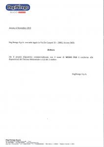Peg Perego Memo Pad: dichiarazione di conformità