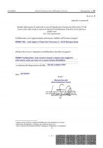 Remmy: dichiarazione di conformità