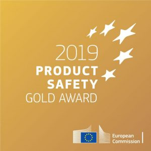 Product Safety Gold Award assegnato a Remmy nel 2019