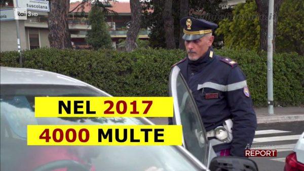 Report: nel 2017 la polizia ha staccato 4000 multe