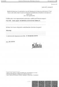 Tata: dichiarazione di conformità