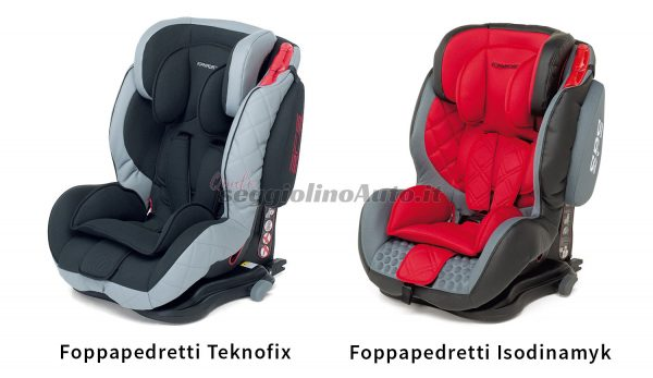 Le somiglianze tra i seggiolini Teknofix e Isodinamyk della Foppapedretti