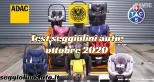 Test seggiolini auto TCS e ADAC autunno 2020