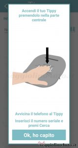 Attivare Tippy premendo con una mano nel centro
