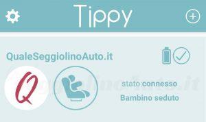 Tippy: stato connesso con bambino seduto