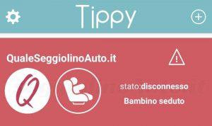 Tippy: stato disconnesso con bambino seduto